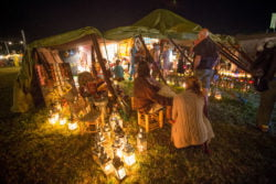 WOMAD festival 2014, in Wiltshire, where temperatures reached into the high twenties on the first day. July 25 2014.