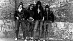 UNITED STATES - JANUARY 01: Photo of RAMONES; The Ramones are pictured for their first album cover (Photo by Roberta Bayley/Redferns)
