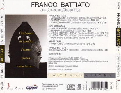 Franco Battiato / Juri Camisasca / Osage Tribe – La Convenzione