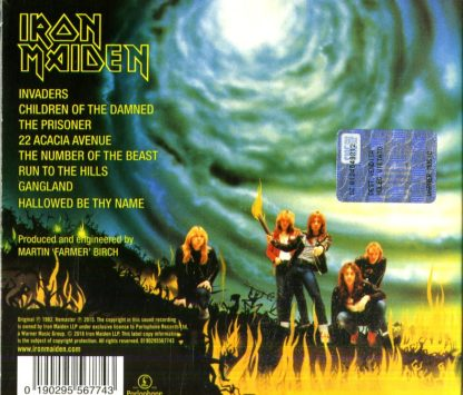 Iron Maiden - The Number Of The Beast retro cd