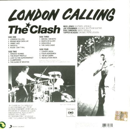 The Clash - London Calling - retro cover