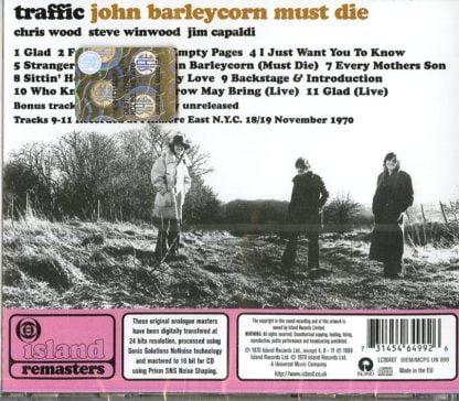 Traffic - John Barleycorn Must Die - retro cover