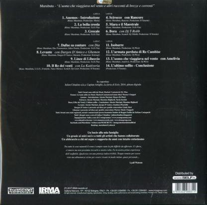 Murubutu - L'Uomo Che Viaggiava Nel Vento - retro cover