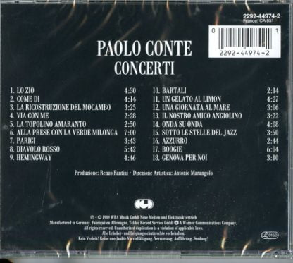 Paolo Conte - Concerti retrocover