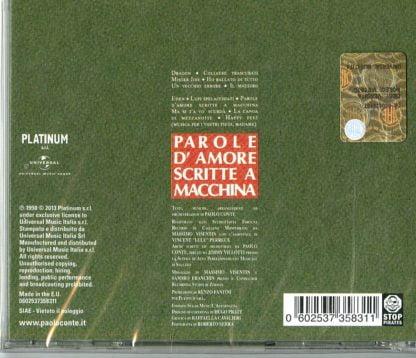 Paolo Conte - Parole D'Amore Scritte A Macchina retro