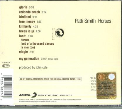Patti Smith - Horses retro cd
